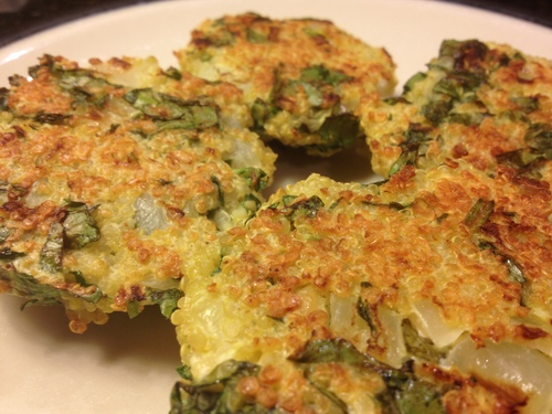 Spinach and Goat Cheese Quinoa Cakes