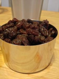 Raisins and Almond Milk