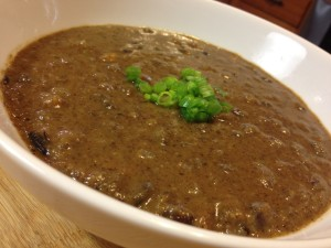 Black bean Soup with Fresh Pumpkin