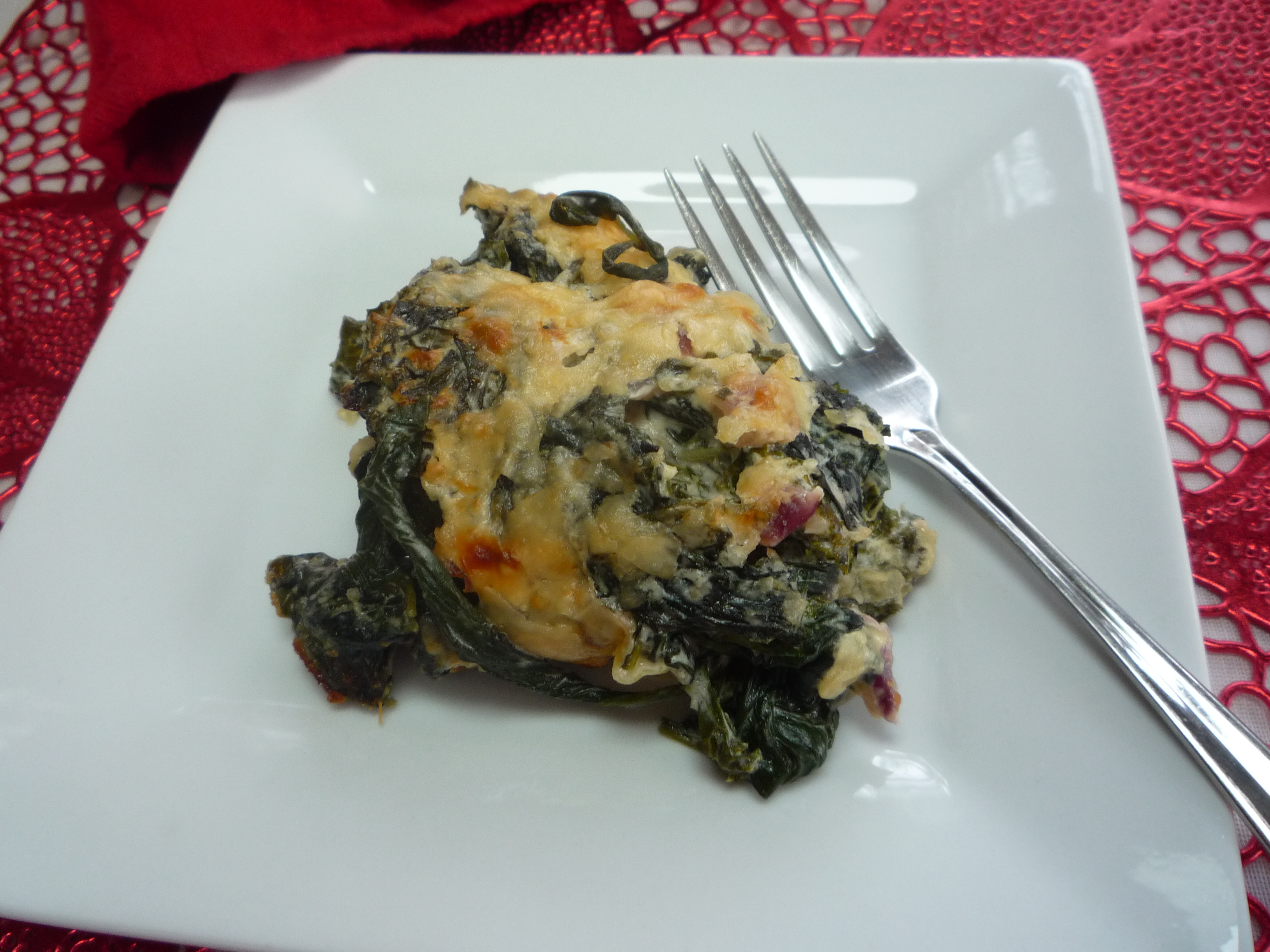 Creamed Spinach and Kale