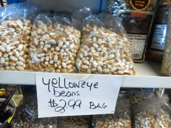 Yellow eye beans in farm market