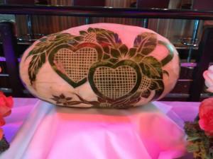 watermelon art - hearts