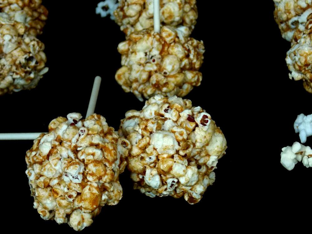 Toffee-Almond Popcorn Balls Recipe — Dishmaps
