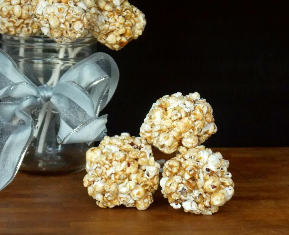 Almond Butter Popcorn Balls