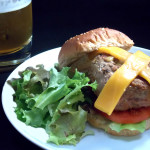 Maple Bacon Cheddar Turkey Burgers