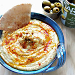 Green Olive Hummus with Mario Olives Lovely