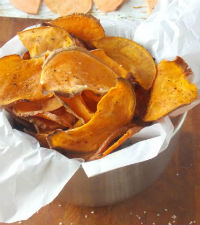 Sweet Potato Chips for round up