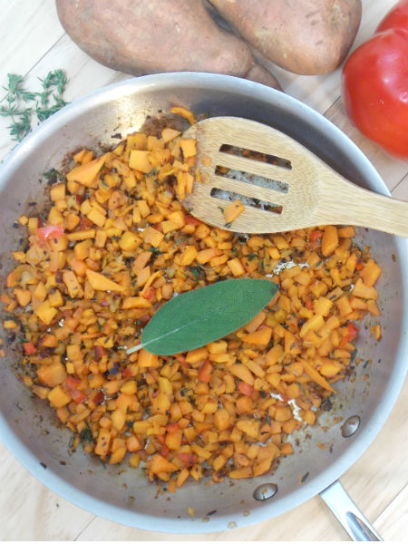 Herbed Sweet Potato Hash by My Clean Kitchen SO YUMMY!