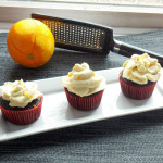 Mocha Cupcakes with Orange Cream Cheese Frosting...So Good!
