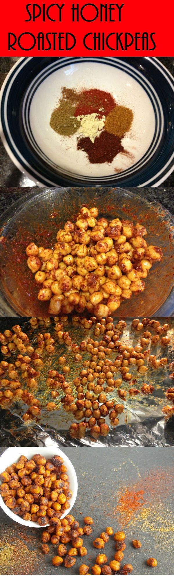 Spicy Honey Roasted Chickpeas - My Clean Kitchen