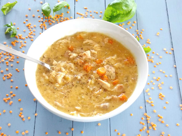 Chicken and Red Lentil Soup YUMMY