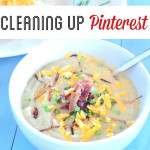 Cleaning Up Pinterest - Loaded No Potato Soup with garnish SO Yummy and Healthy