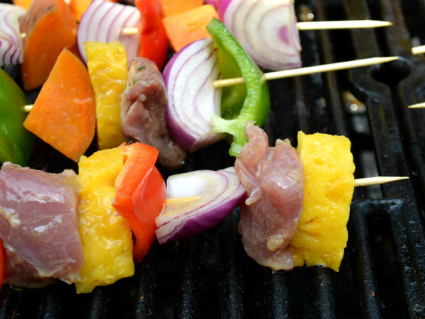 Kabobs Cooking SO good!!
