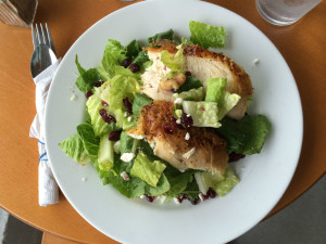 Local Lettuce, local chicken, homemade salad dressing = super yummy!