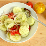 Garden Cucumber and Tomato Salad