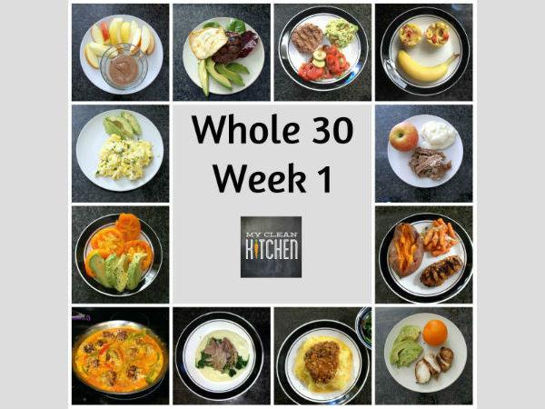 My Clkean Kitchen Whole 30 Week 1