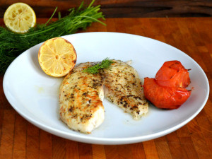 Broiled Tilapia with Dill and Tomatoes simple and delish!