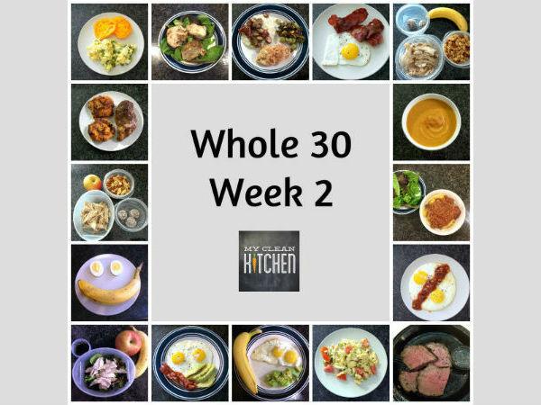 My Clean Kitchen Whole 30 Week 2 Meals!