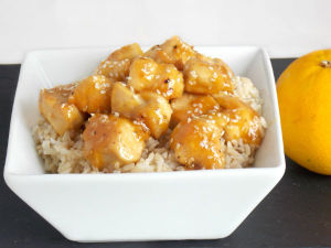 Clean Eating Freezer Meal Orange Chicken!!!