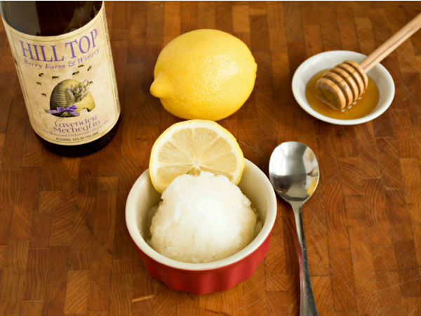 Lemon Mead Sorbet with Local Lavender Mead - Simple and Elegant