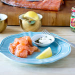 Gravlax with Lemon Caper Cream Cheese