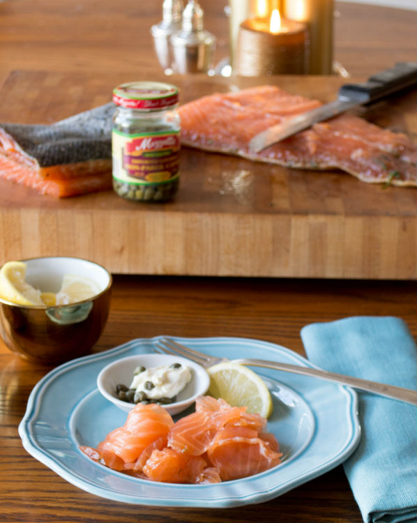 Gravlax with lemon Caper Cream Cheese Super Simple and So good