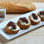 Olive Tapenade and Goat Cheese Bruschetta