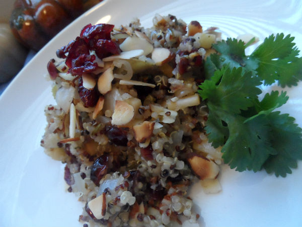 Final Quinoa Apple Onion Stuffing
