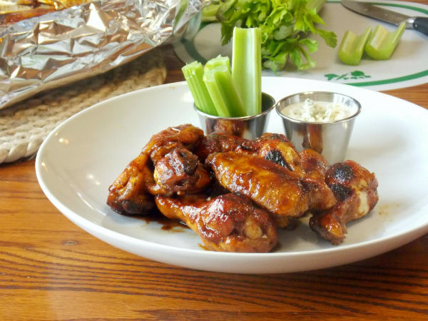 Spicy Hot Wings with blue cheese SO YUMMY