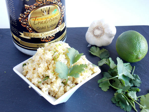 Cilantro Lime Quinoa with Coconut