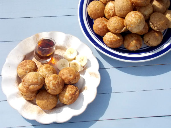 Whole Wheat Aebleskiver  and Syrup YUMMY