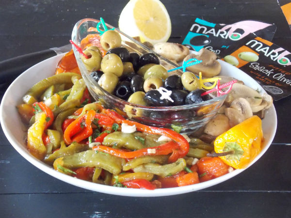 Clean Antipasto with mario olives SUPER yumminess