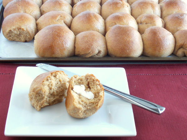 Whole WHeat Parker House Rolls Yes!!!