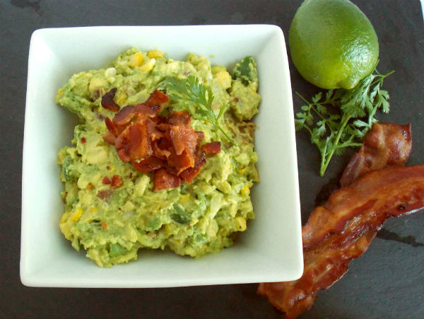 Roasted Corn and Bacon Guacamole!!!