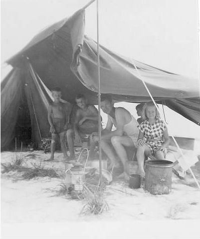 Family in a makeshift tent1