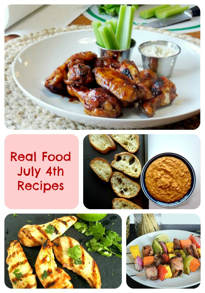 Perfect 4th of July Real Food Menu!!!!