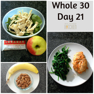 Whole 30 Day 21!!!