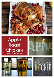 Apple Roast Chicken with Yummy Cranberries