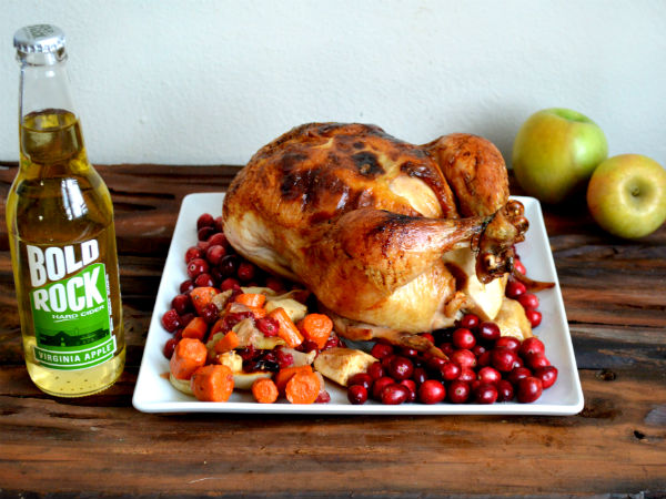 Yum! Apple Roasted Chicken with Bold Rock Cider! So good!