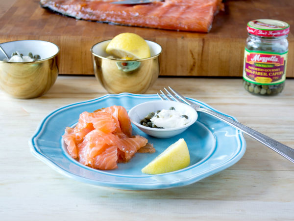 Gravlax with Lemon Caper Cream Cheese Mezzetta Super Good