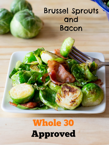 Whole 30 Side Brussel Sprouts with Bacon SO GOOD and SO Easy